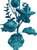 Turquoise Pick With Assorted Decorations - 14cm