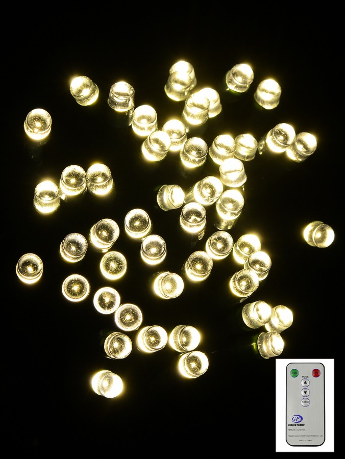 100 Dimmable Warm White LED String Light With Remote - 10m