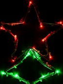 Christmas Tree Shape With Stars LED String Light Silhouettes - 3 x 39cm