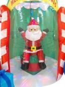 Santa Sitting In Christmas Tree Illuminated Inflatable - 2.4m