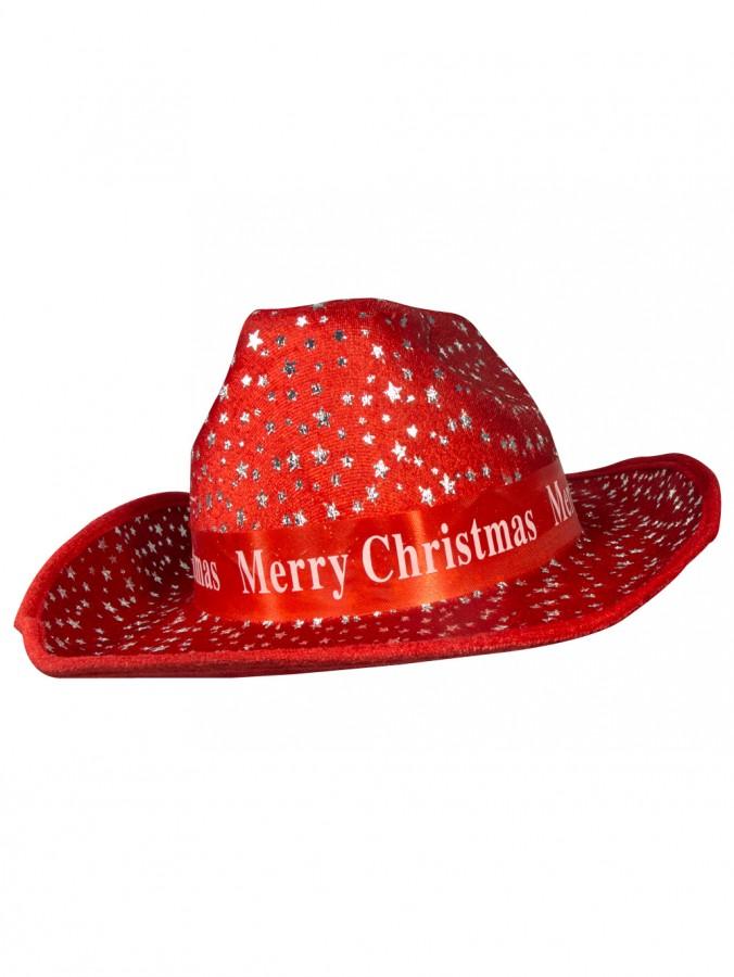 Merry Christmas Cowboy Hat - 36cm