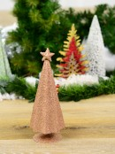 Pink Conical Shape Table Top Christmas Tree - 28cm