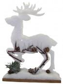 Dacron Deer Ornament - 22cm