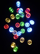 100 Multi Colour String Lights with USB Connector & Green Cable - 10m