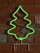 Green Neon Flex Christmas Tree Solar Path Light - 42cm