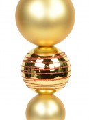 Metallic & Matte Gold With Red Glitter Large Finial Display Decoration - 45cm