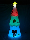 Standing Christmas Tree with Decorations & Multi Coloured Lighting - 2.4m