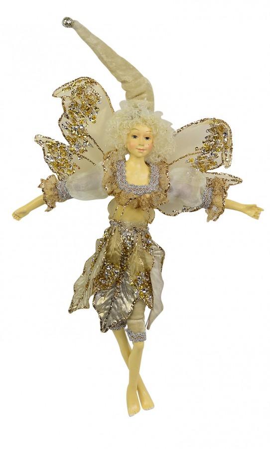 Metallic Gold Hanging Ornament Fairy - 35cm