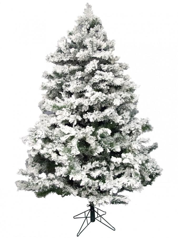 Flocked Antarctic Pine Christmas Tree - 1.8m