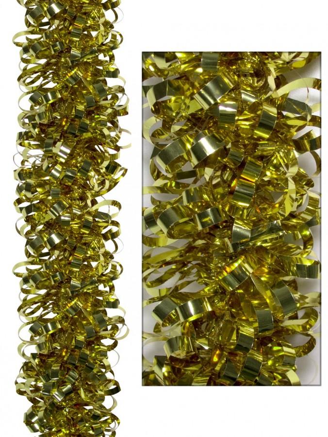 Looped metallic gold tinsel garland m christmas