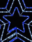 Blue & Cool White LED Triple Star Rope Light Silhouette - 80cm