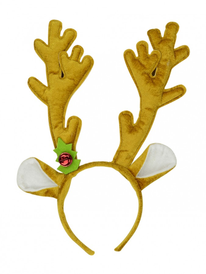 Light Brown Reindeer Antlers Headband - 34cm