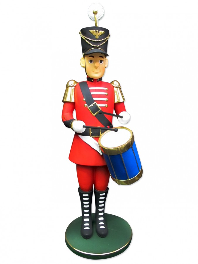Traditional Resin Drummer Boy Decor - 1.7m