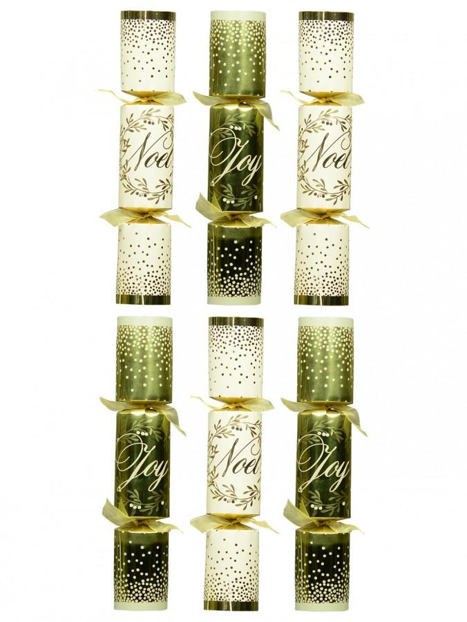 Gold & White Noel / Joy Bon Bons - 35cm x 6 Pack