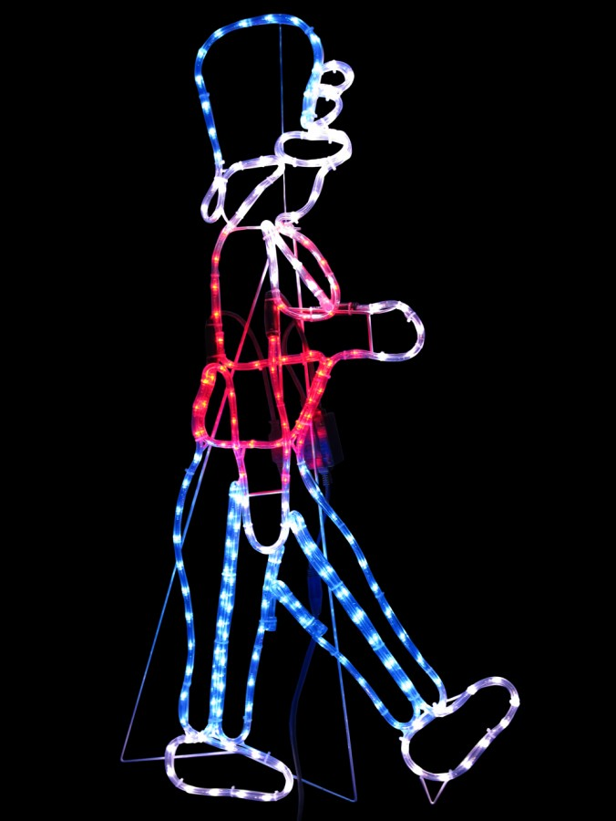 Nutcracker soldier led rope light silhouette 12m christmas nutcracker soldier led rope light silhouette 12m aloadofball Image collections