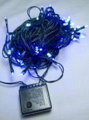 80 Blue & Cool White LED String Light - 8m