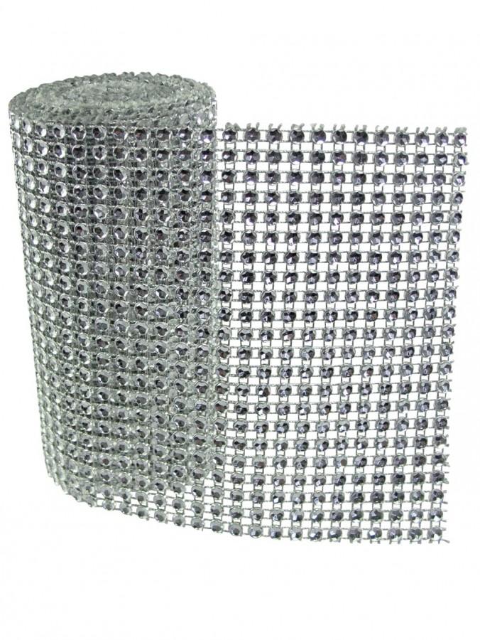 Silver Diamond Wrap Decoration - 1.8m