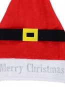 Merry Christmas With Belt Decorated Traditional Christmas Santa Hat - 39cm