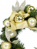 Gold & Champagne Bauble Pre-Decorated Pine Wreath - 48cm