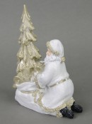 Traditional Santa Placing Gifts Under Christmas Tree Christmas Ornament - 18cm