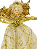 Christmas Fairy With Gold Wings Christmas Tree Hanging Decoration - 15cm