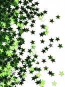 Shiny Green Star Shape Decorative Christmas Confetti - 40g