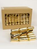 Gold Fleur De Lis Pattern On Shiny Gold Christmas Cracker Bon Bons - 50 x 28cm